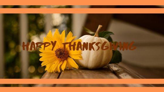Happy Thanksgiving blog header